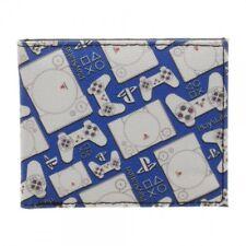 Playstation Controller & Console Pattern Bi-Fold Wallet