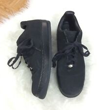 Nike Air Force 1 One Supreme Low DS All Black Suede Men's Size 14 312685-002 VTG