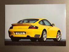 2000 Porsche Turbo Coupe Full Color Werkfoto Press Photo Factory Issued RARE!!