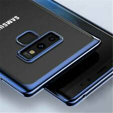 For Samsung Galaxy S10 Note 10 9 8 5 Electroplate Silicone Clear TPU Case Cover
