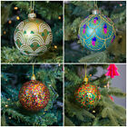 Gisela Graham Christmas Baubles Collection - Xmas Decorations - Glitter Party