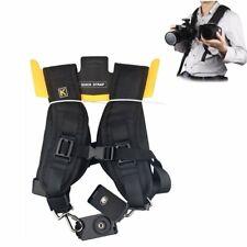 Adjustable Double Dual Shoulder Strap Quick Sling Camera Belt for Canon Nikon