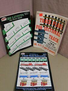 2 Railroad Track Plans Books + HO Layouts Blueprints Atlas Westcott  S & O Gauge