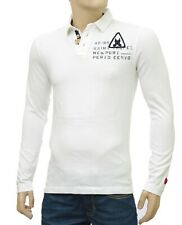 Polo homme blanc GAASTRA manches longues LEADING Light Off taille S