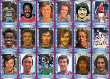 West Ham United década de 1970 Estilo Vintage Fútbol Trading Cards-Colección décadas