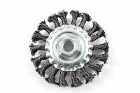 "Wheel Brush Knotted 4"" x 5/8""-11 UNC Arbor Hole - SÜA - (10 PACK)"