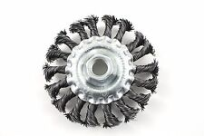 "Wheel Brush Knotted 4"" x 5/8""-11 UNC Arbor Hole - SÜA - (5 PACK)"