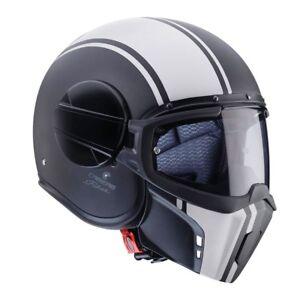 Caberg Ghost Legend Black White Fighter Helmet Bike Street Custom Cafe Racer