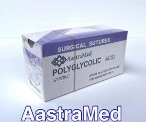 2/0 PGA, Polyglycolic Acid, Veterinary, Dental, 30 mm 12 ct (1 Box)