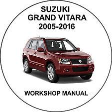 Suzuki Grand Vitara 2005-2016 Workshop Service Repair Manual