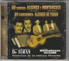 """*DVD & CD-""""""""Alegres de Teran & Monataneses Del Alamo"""" *Tejano Tex Mex DVD/CD NEW"""