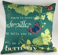 Butterfly/Caterpilar Theme on Green Background Evans Lichfield Cushion Cover