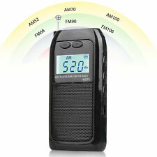 Mini Portable FM/AM Radio Digital Tuning MP3 Music Player Rechargeable Battery