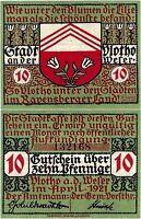 Notgeld 10 Pfennig 1921 Vlotho an der Weser (Nordrhein-Westfalen) SEHR SELTEN