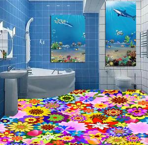 3D Lovely Flower 943  Floor WallPaper Murals Wall Print 5D AJ WALLPAPER UK Lemon