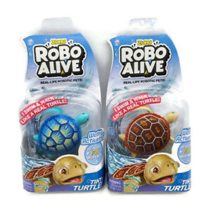 Zuru Robo Alive Blue and Red Turtles Water Activated New Unopened Free Shipping
