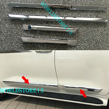 Chrome Body Door Side Molding Cover Trim For 2016 2017 Toyota Land Cruiser LC200