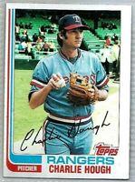 1982 TOPPS CHARLIE HOUGH TEXAS RANGERS #718 BASEBALL CARD