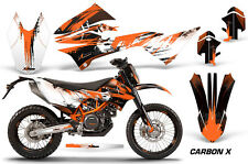 AMR Racing Number Plate Graphic Decal Kit For KTM 690 Enduro R 12-16 CARBON X O
