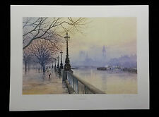 Evening on the South Bank by John Donaldson,Limited Edition,Signed,Print