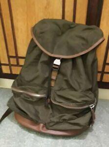 Prada tessuto nylon green backpack