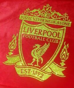 EXCLUSIVE Liverpool FC Club Logo Canvas VELVET 40 x 30 cms MADE 2 ORDER free P&P