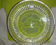 "Lead Crystal ""Happy Anniversary"" Plate"