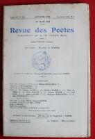 1911 - Revue des Poètes - N° 155 - Firmin Roz, Mme A. Daudet, J. Supervielle...