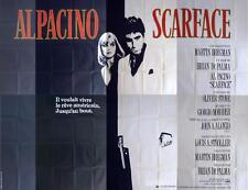 SCARFACE - PACINO / PFEIFFER / MONTANA / STONE / GUN - RARE 8 PANELS POSTER