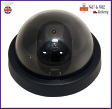 Dummy Fake CCTV Dome Security Camera Flashing Red LED Indoor Outdoor with Screws