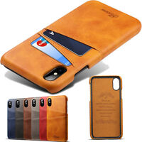 Original Slim Card Wallet Purse Leather Case Cover For iPhone X 8,Samsung Note 8