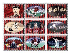 St. Vincent 2011 - SC# 3786 Italian Football League, Soccer - Sheet of 9 - MNH