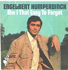 ENGELBERT HUMPERDINCK--PICTURE SLEEVE + 45--(AM I THAT EASY TO FORGET)--PS--PIC-