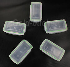5pcs Waterproof 18650 CR123A 16340 Battery Case Holder Transparent Plastic Box