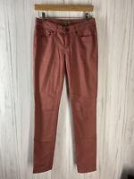 prAna Women's Size 0 Kayla Jeans Soft Stretchy Organic Cotton Straight Leg Pink