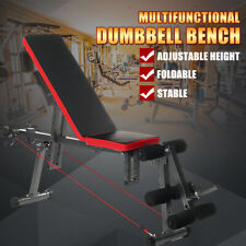 Workout Fitness Dumbbell Bench Home Adjustable Flat Gym Full Body Exercise