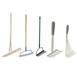 Garden Rakes Lawn Rakes Leaf Adjustable Plastic Metal Gardening Tools Leaf