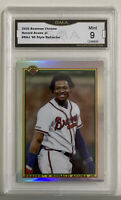 2020 Bowman Chrome RONALD ACUNA JR '90 Style Refractor Graded GMA 9 - PSA Braves