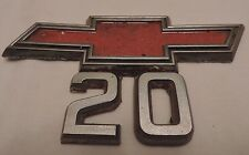 1967 1968 1969 1970 1971 1972 1973 1974 1975 1976 Van CHEVY 20 TRIM LABEL EMBLEM