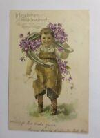 Geburtstag, Kinder, Mode, Blumen, Hufeisen, 1905 ♥ (44422)