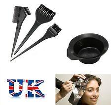 4 Pcs Large Hair Dye Colour Brushes Colouring Bowl & Hairdresser Salon Brush Kit