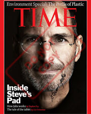 8.5x11 Autographed Signed Reprint RP Photo Steve Jobs Time Magazine