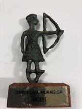 "Archer Italy Sardegna Nuragica Bronze Sculpture 4"" Statue Fucina Fontanarosa"