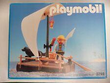 PLAYMOBIL PIRATE 3793 radeau bateau île port ship MISB OVP NEW BOX VINTAGE NEUF