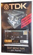 TDK  MA-XG   90   VS. II      1990  BLANK CASSETTE TAPE (1) (SEALED)