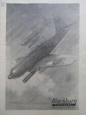 12/1945 PUB BLACKBURN AIRCRAFT FIREBRAND STRIKE AIRCRAFT ROYAL NAVY ORIGINAL AD