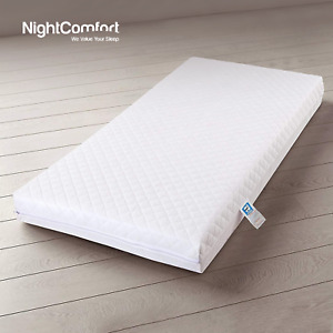 Ultra Extra Thick Soft Eco polyester Baby Toddler Cot Bed Mattress Zipped Cover