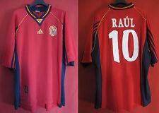 España Jersey Raul No. 10 ESPANA 1998 Casa camiseta España Fútbol - XL