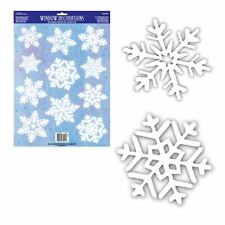 Christmas Winter White Snowflake Vinyl Glass Stickers Window Party Decorations