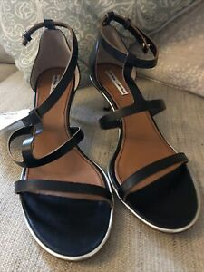 Ladies Designer Black Leather Shoes Uk Size 7 New From Vero Cuoio